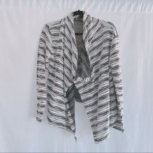 Eddie Bauer Draped Open Front Duster Cardigan L